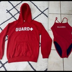 Lifeguard suit and hoodie